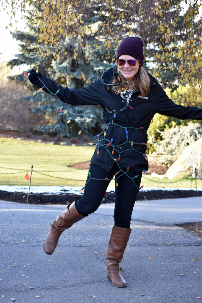 Kelsey Van Raay gets wrapped up in planning this year's ZOOLIGHTS.