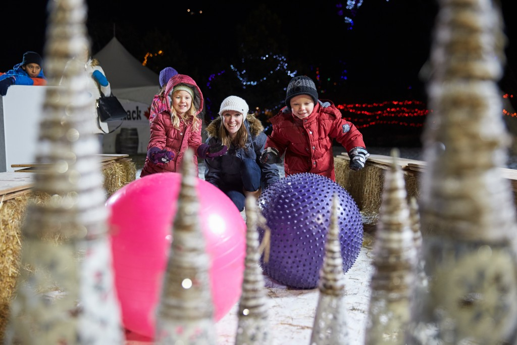 Bowling takes a snowy twist at ZOOLIGHTS!