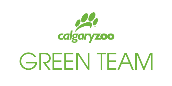 The logo for the zoo's Green Team, leading change in sustainability and conservation practices on grounds.