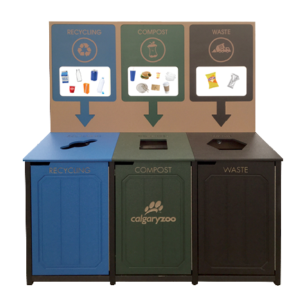 The Calgary Zoo is introducing three stream bins- making composting and recycling at the zoo as easy as 1, 2 , 3.