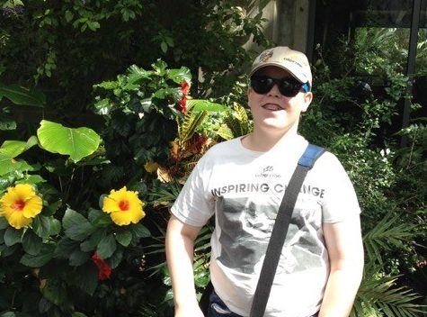 13 year old Adam Fisher enjoying his favourite place in the world the Calgary Zoo.