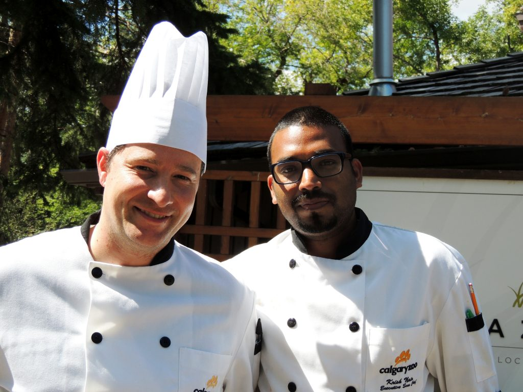 Meet Calgary Zoo Executive Chef James Nielson, left, and Executive Sous Chef Krish Nair, right.