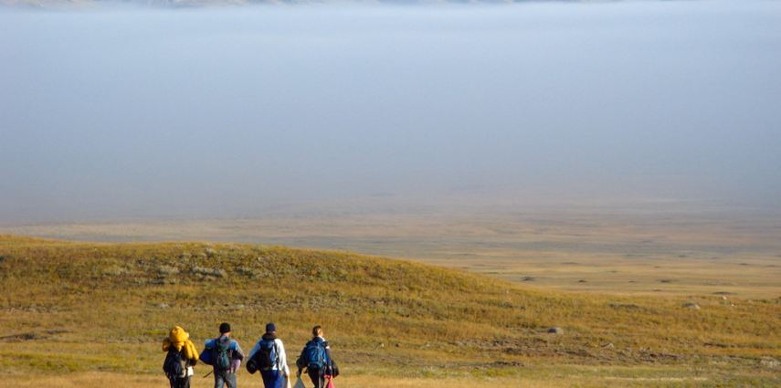 The Conservation Research  team in Grasslands National Park.