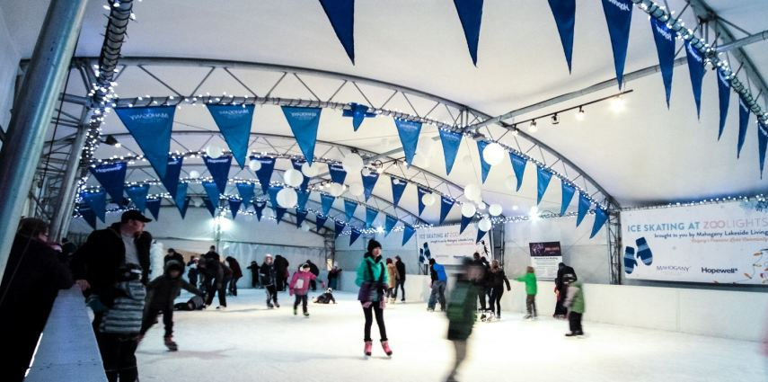 For the third year, you can now ice skate at the Calgary Zoo, courtesy of Mahogany Lakeside Living.