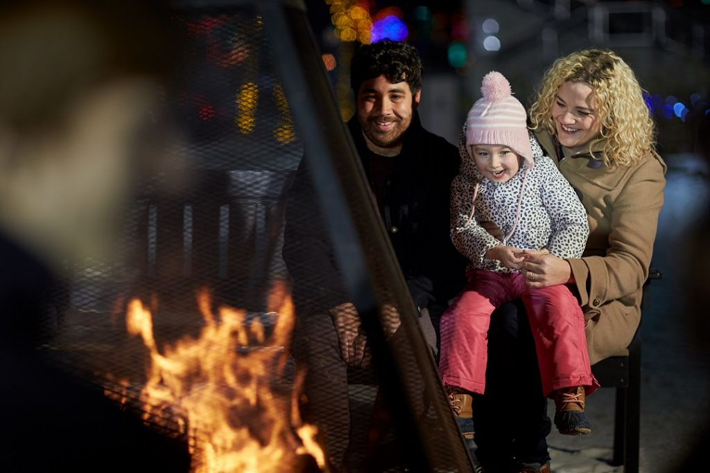Keep warm on a winter's night at ZOOLIGHTS- cozy up to one of the many fire pits.