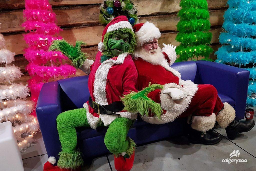 Grinch Santa at ZOOLIGHTS