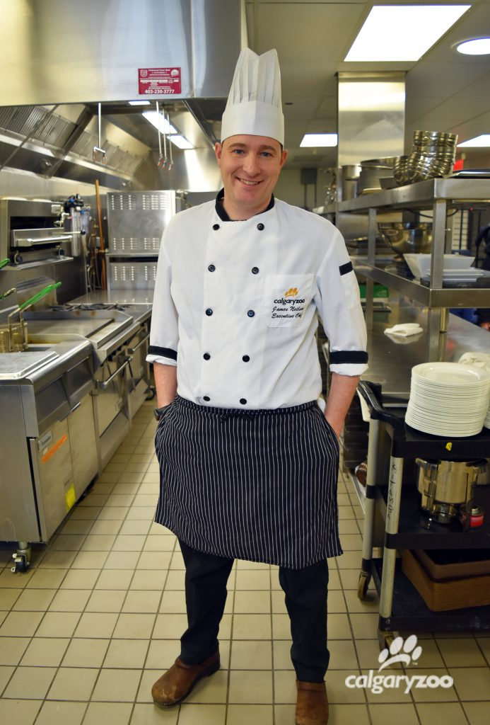 Executive Chef James Neilson is always searching for ways to improve the zoo's sustainable food practices.