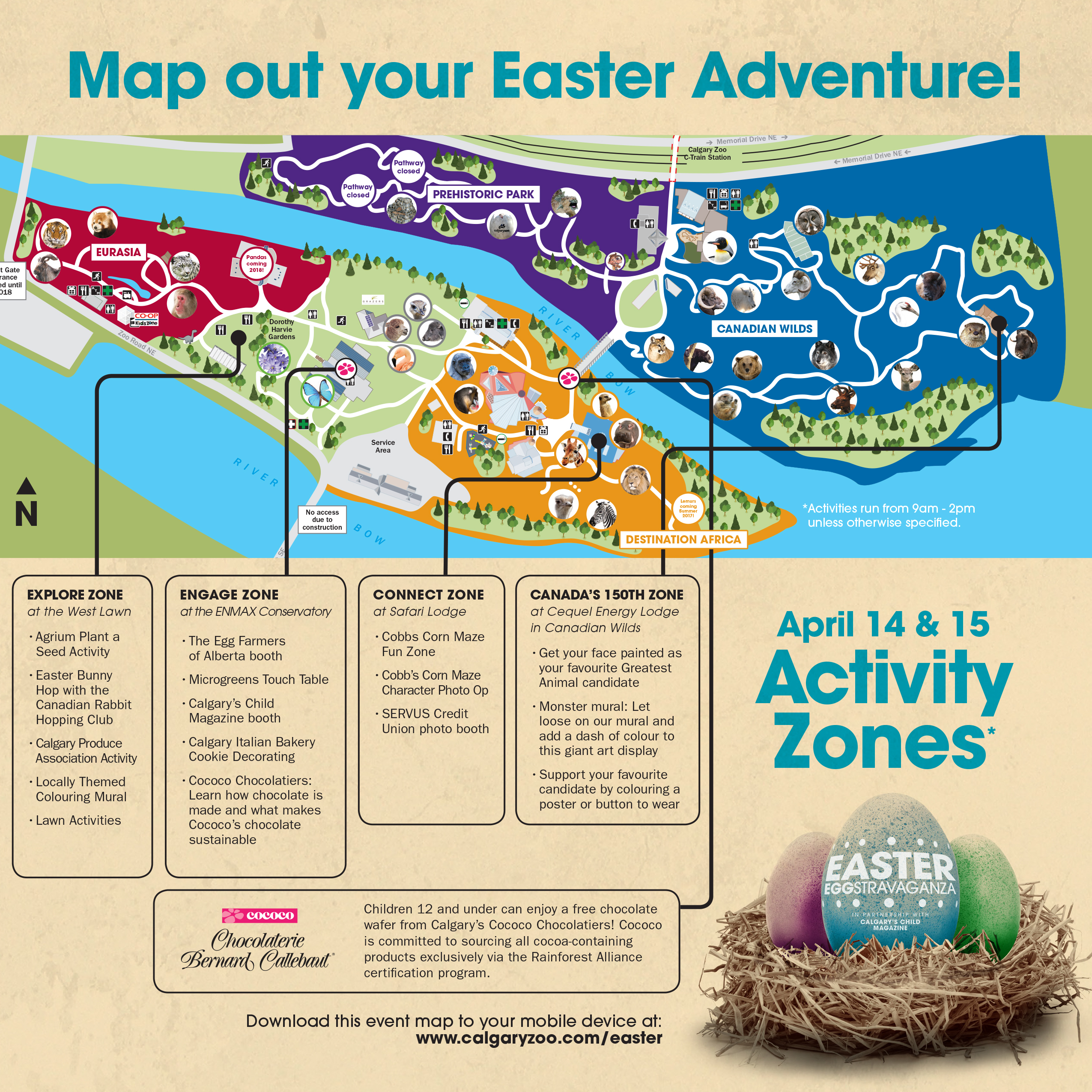 Calgary Zoo Map Easter 2017_Digital Map Image   Calgary Zoo   Blog