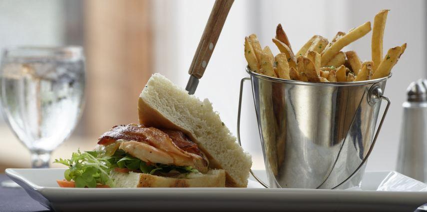 Try the delightful Bowden Farm chicken focaccia club at Grazers!