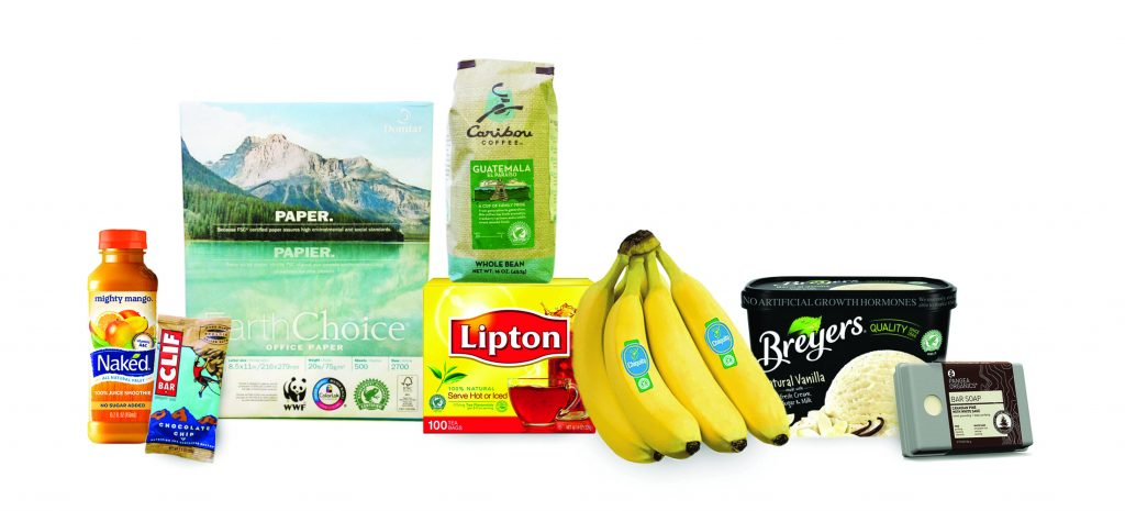 An example of Rainforest Alliance Products.