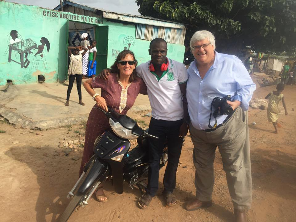 Allan in Ghana with Donna Sheppard.