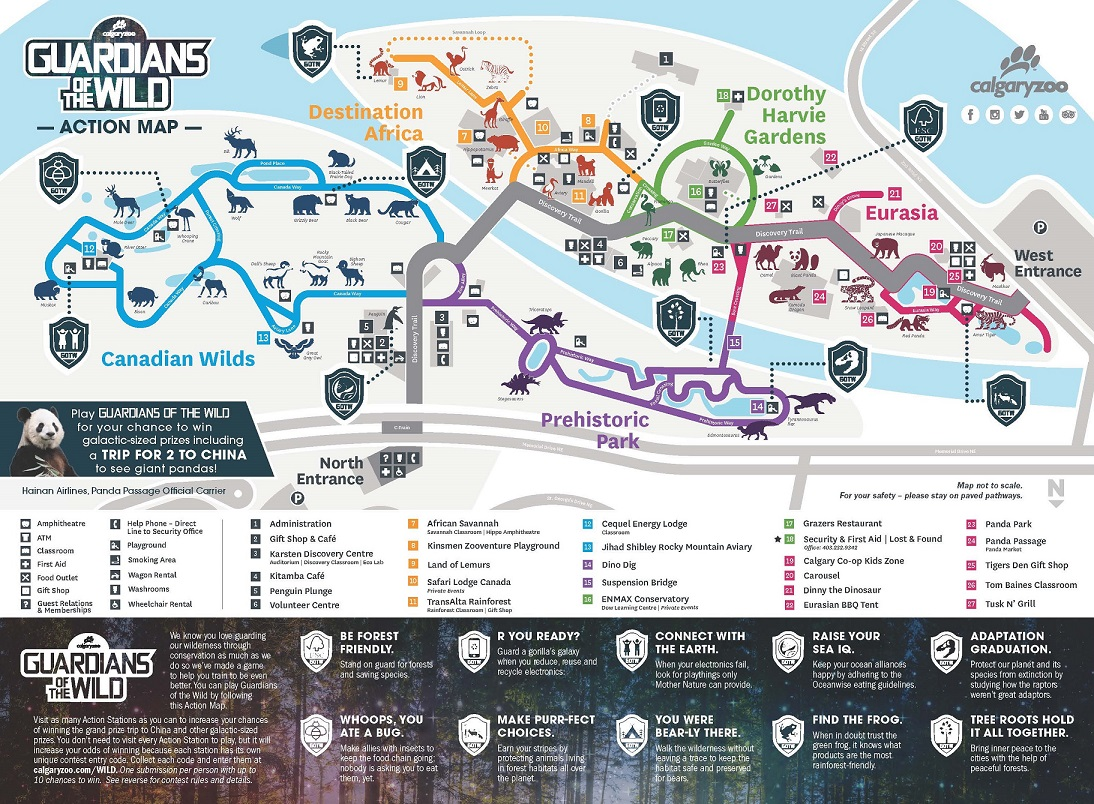 Calgary Zoo Map GOTW Action Map 2018   Calgary Zoo   Blog