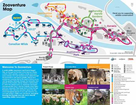 Zooventure One Way Map March 2021